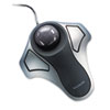 Kensington® Optical Orbit Trackball Mouse, Two-Button, Black/Silver