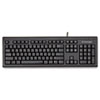 Kensington® Keyboard for Life Slim Spill-Safe Keyboard, 104 Keys, Black