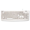 Kensington® Pro Fit USB Washable Keyboard, 104 Keys, White
