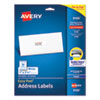 Easy Peel White Address Labels w/ Sure Feed Technology, Inkjet Printers, 1 x 2.63, White, 30/Sheet, 25 Sheets/Pack
