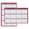 AT-A-GLANCE® Erasable Vertical/Horizontal Wall Planner, 32 x 48, Blue/Red, 2020