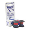 Lathem® Time 72CN Ribbon, Blue/Red