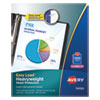 Avery® Top-Load Poly Sheet Protectors, Heavy Gauge, Letter, Diamond Clear, 100/Box
