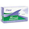 Mead® Security Envelope, 3 5/8 × 6 1/2, 20 lb, White, 80/Box