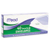 Mead® Security Envelope, 4 1/8 x 9 1/2, 20 lb, White, 40/Box