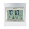 Howard Miller® TechTime II Radio-Controlled LCD Wall or Table Alarm Clock, 8.75