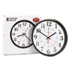 Howard Miller® Alton Auto Daylight Savings Wall Clock, 14in, Black