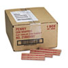 MMF Industries™ Pop-Open Flat Paper Coin Wrappers, Pennies, $.50, 1000 Wrappers/Box