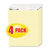 Post-it® Easel Pads Self-Stick Easel Pads, Ruled, 25 x 30, Yellow, 4 30-Sheet Pads/Carton