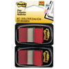 Post-it® Flags Standard Tape Flags in Dispenser, Red, 100 Flags/Dispenser