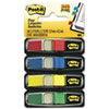 Post-it® Flags Small Flags in Dispensers, Four Colors, 35/Color, 4 Dispensers/Pack