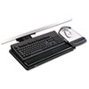3M Positive Locking Keyboard Tray, Highly Adjustable Platform, 21-3/4