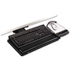 3M Knob Adjust Keyboard Tray, Highly Adjustable Platform, Black