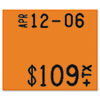 Monarch® Pricemarker 1115 Two-Line Removable Label,5/8x3/4, Fluorescent Red, 3 Rolls/Pack