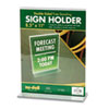 Nu-Dell Acrylic Sign Holder, 8 1/2 x 11, Clear