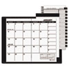 Recycled Monthly Planner, Unruled, 3-1/2 x 6-1/8, Black, 2014-2015