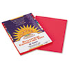 SunWorks® Construction Paper, 58 lbs., 9 x 12, Scarlet, 50 Sheets/Pack