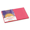 SunWorks® Construction Paper, 58 lbs., 12 x 18, Scarlet, 50 Sheets/Pack