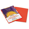 SunWorks® Construction Paper, 58 lbs., 9 x 12, Orange, 50 Sheets/Pack