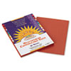 SunWorks® Construction Paper, 58 lbs., 9 x 12, Brown, 50 Sheets/Pack