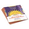 SunWorks® Construction Paper, 58lb, 9 x 12, Light Brown, 50/Pack