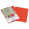 Pacon® Peacock Sulphite Construction Paper, 76 lbs., 9 x 12, Orange, 50 Sheets/Pack