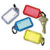 SecurIT® Extra Color-Coded Key Tags for Key Tag Rack, 1 1/8 x 2 1/4, Assorted, 4/Pack