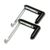 Quartet® Adjustable Cubicle Hangers for 1 1/2 to 3 Inch Panels, Aluminum/Black, 2/Set