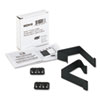 Quartet® Cubicle Partition Hangers, Black, 2/Set