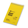 National® Brand Wirebound Memo Book, Narrow Rule, 3 x 5, White, 60 Sheets