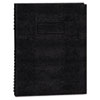 Blueline® Exec Wirebound Notebook, College/Margin Rule, 8-1/2 x 11, BLK, 100 Sheets