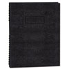 Blueline® Exec Wirebound Notebook, College/Margin Rule, 9-1/4 x 7-1/4, BLK, 75 Sheets