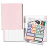Blueline® Pink Ribbon NotePro Notebook, Hardcover, Wirebound, 150 Pages, 9-1/4 x 7-1/4