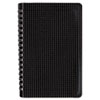 Blueline® Poly Cover Notebook, 6 x 9 3/8, 80 Sheets, Ruled, Twin Wire Binding, Black Cover