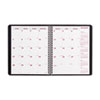 Brownline® Essential Collection Monthly Planner, 7-1/8 x 8-7/8, Black, 2012-2014