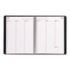Brownline® Essential Columnar Weekly Appointment Book, 8-1/2 x 11, Black, 2013