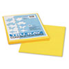 Tru-Ray Construction Paper, 76 lbs., 9 x 12, Yellow, 50 Sheets/Pack