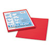 Pacon® Tru-Ray Construction Paper, 76 lbs., 9 x 12, Festive Red, 50 Sheets/Pack