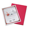 Riverside Construction Paper, 76 lbs., 9 x 12, Red, 50 Sheets/Pack