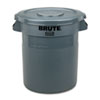 Round Flat Top Lid, for 10-Gallon Round Brute Containers, 16