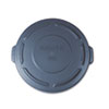 "Round Flat Top Lid, for 20-Gallon Round Brute Containers, 19 7/8"", dia., Gray"