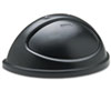 Rubbermaid® Commercial Untouchable Plastic Half-Round Lid, 21 3/8 x 12 3/8 x 9 1/8, Black