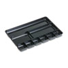 Rubbermaid® Regeneration Nine-Section Drawer Organizer, Plastic, Black