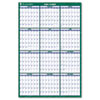Recycled Vertical Erasable Wall Planner, Yearly Calendar, 24