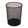 Rubbermaid® Commercial Steel Mesh Wastebasket, Round, 5 gal, Black
