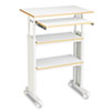 Safco® Adjustable Height Stand-Up Workstation, 29.5w x 22d x 49h, Gray