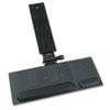 Safco® Ergo-Comfort Articulating Keyboard/Mouse Platform, 28w x 11-3/4d, Black Granite