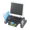 Safco® Onyx Mesh Steel Monitor Stand, 19 1/4 x 11 1/4 x 6 1/4, Black