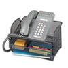 Safco® Onyx Angled Mesh Steel Telephone Stand, 11 3/4 x 9 1/4 x 7, Black