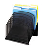 Safco® Mesh Desk Organizer, Eight Sections, Steel, 11 1/4 x 10 7/8 x 13 3/4, Black